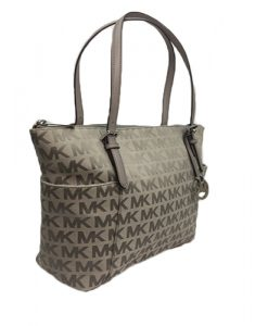 da58929ac6 MICHAEL KORS Jet Set Item East West Signature Top Zip Grey PVC Tote  35T6STTT8J – Your World Of Luxury