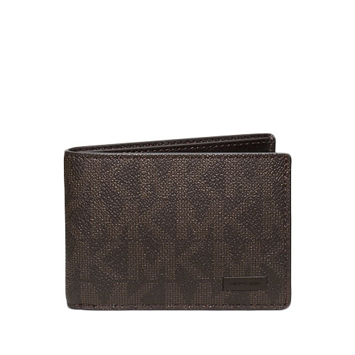 6a8a38ad7f6b8 MICHAEL KORS Jet Set Men Slim Billfold Brown Signature Wallet 36H6LMNF5V –  Your World Of Luxury