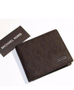 49dcfb72ed3bd3 MICHAEL KORS Jet Set Men Slim Billfold Brown Signature Wallet 36H6LMNF5V –  Your World Of Luxury