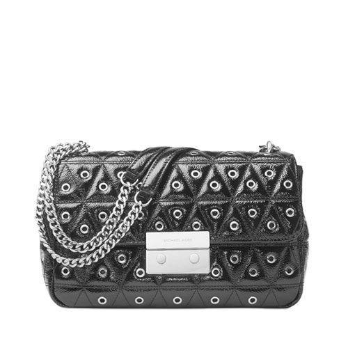 e5c2f0fc6be5 MICHAEL KORS Sloan Grommet Large Quilted Leather Chain Shoulder Bag  30F7SSLL3A – Your World Of Luxury