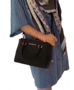 d61fe42abab9a9 MICHAEL KORS Saffiano Kellen Xs Satchel Black Leather Cross Body Bag  35H7GSOS0L – Your World Of Luxury