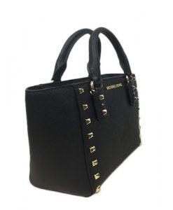 aaff840eef95 MICHAEL KORS Sandrine Stud Saffiano Leather Small Tote Crossbody Bag  35H7GD1C1L – Your World Of Luxury